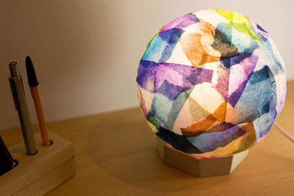 【キッズフェス】和紙で作る風船ランプシェード