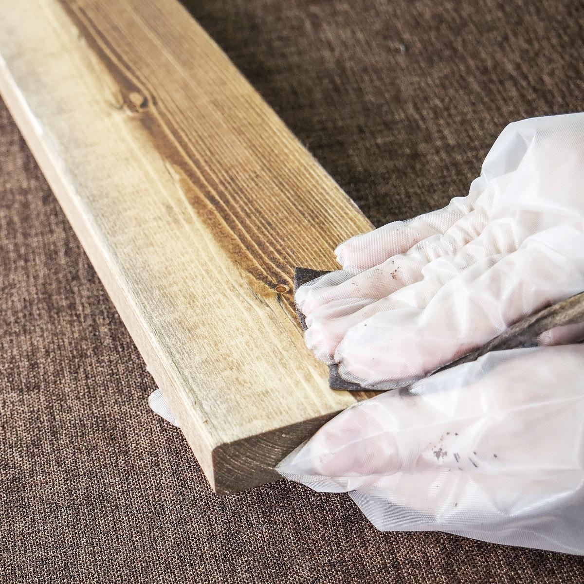 DIY FACTORY ペーパーステイン (Paper Stain) おしぼり塗料 ウォルナット 5枚