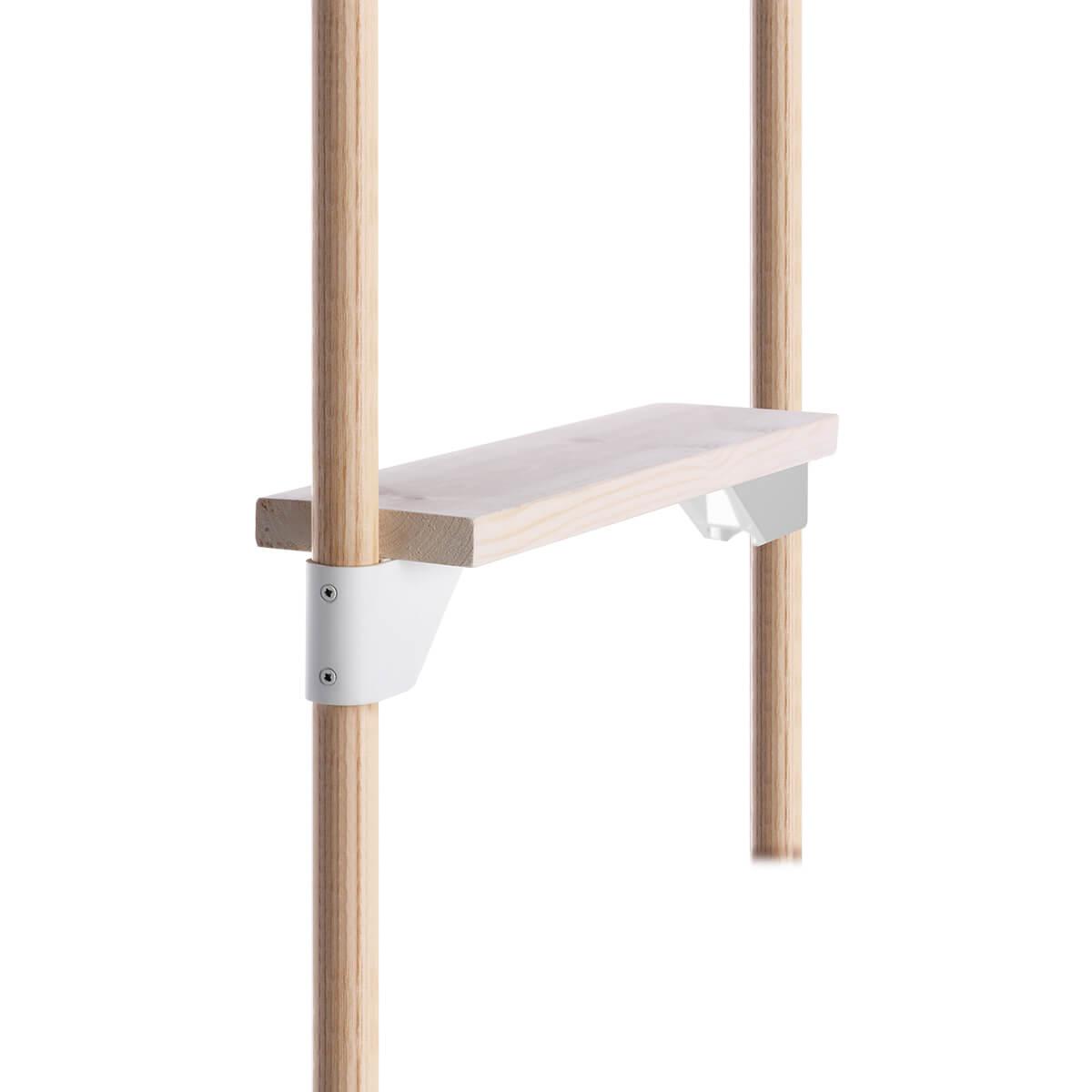 シェルフブラケット KINOBO用棚受 ホワイト Φ24 1セット