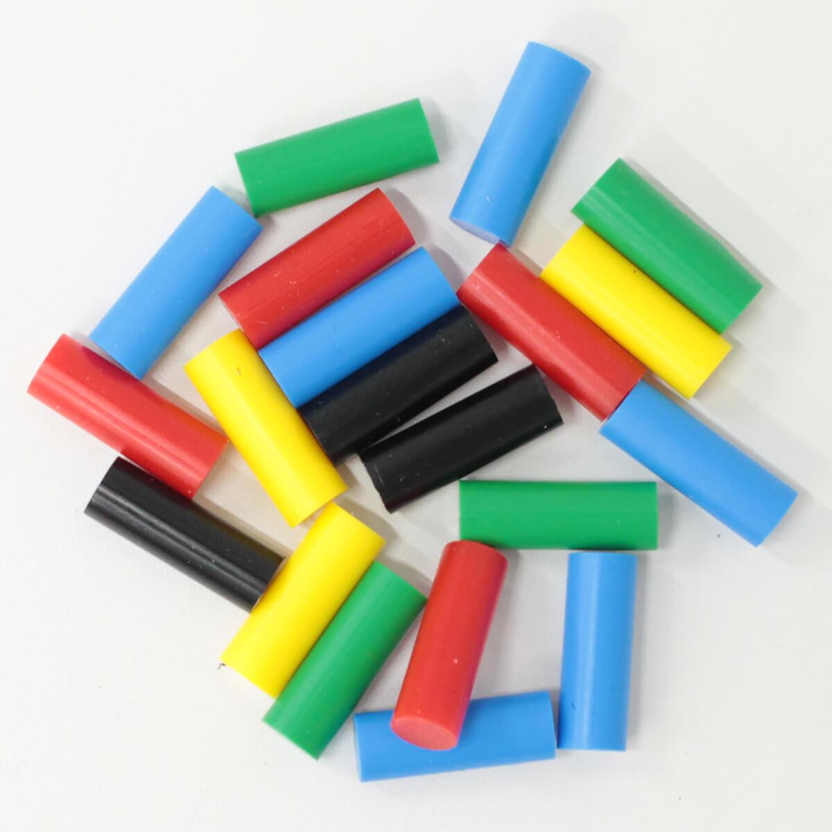 GLUEY専用グルースティック 赤、黄、青、黒、緑 5色×各14本入 ボッシュ