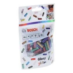 GLUEY専用グルースティック グリッター 赤、青、緑、銀、金 5色×各14本入 ボッシュ