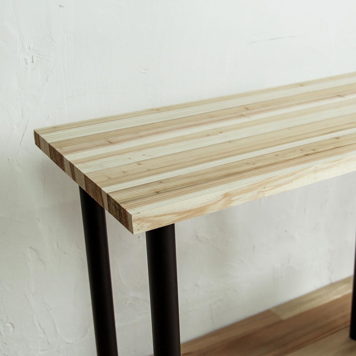 手軽に取り入れるブラックスチールのテーブルベンチ