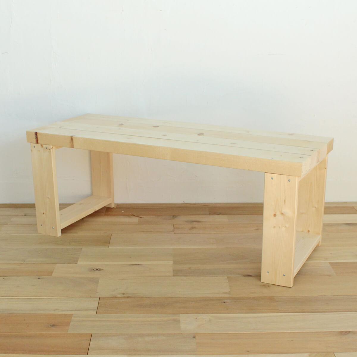 定番木材で作るベーシックなローテーブル