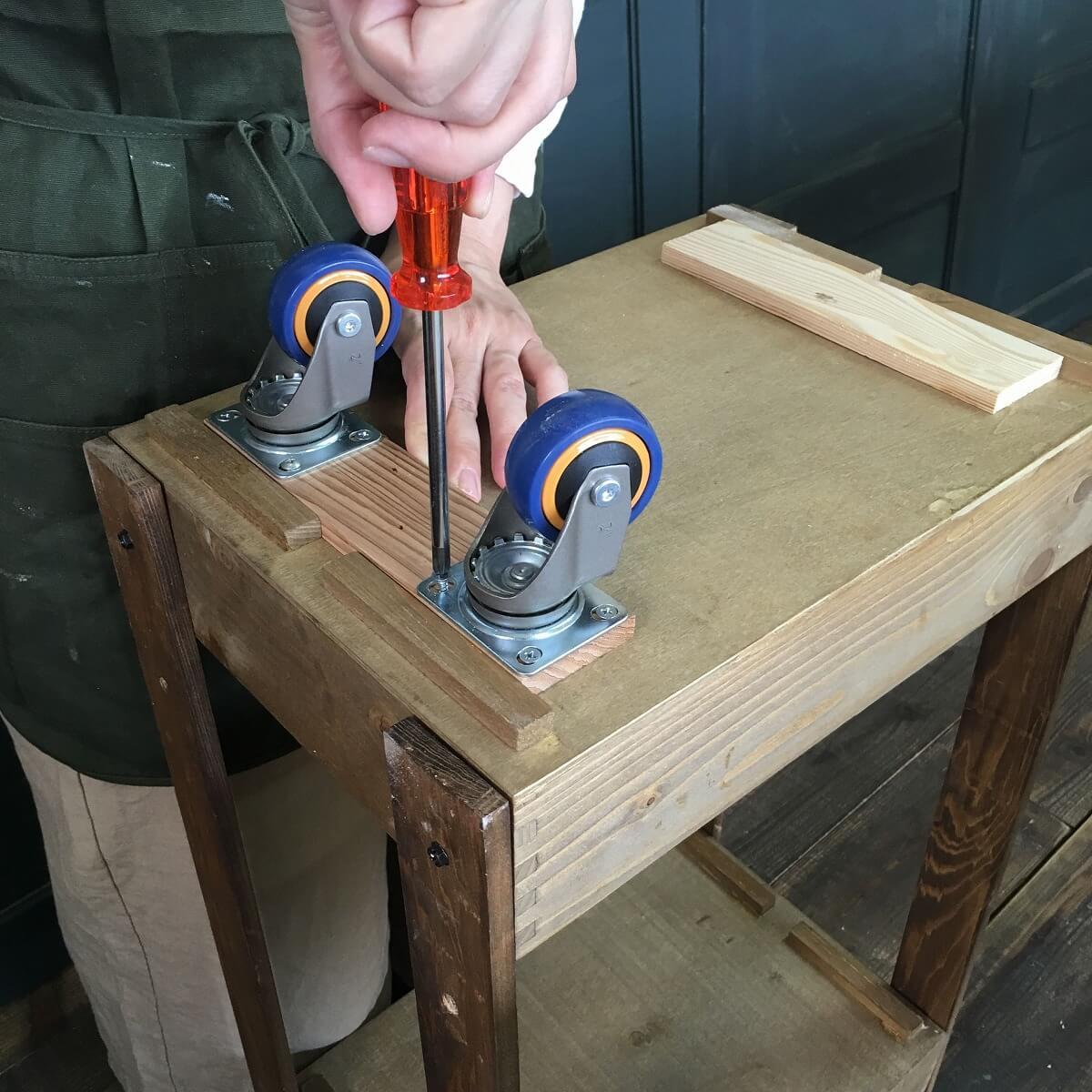 木箱でかんたん3段キッチンワゴン