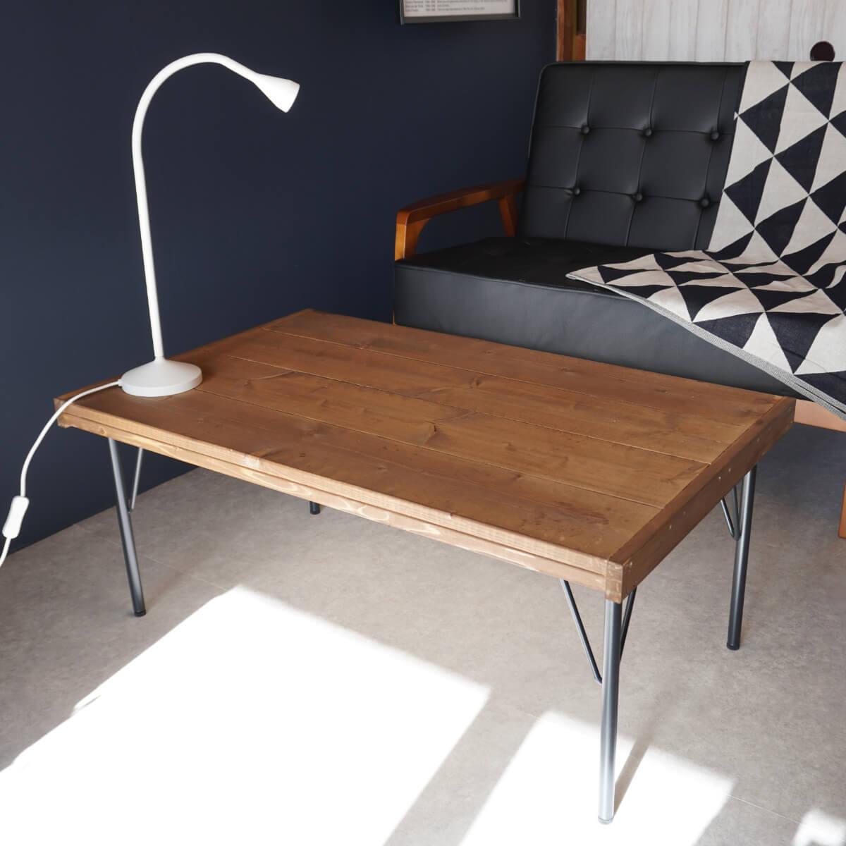 天板がおしゃれなカフェ風ローテーブル