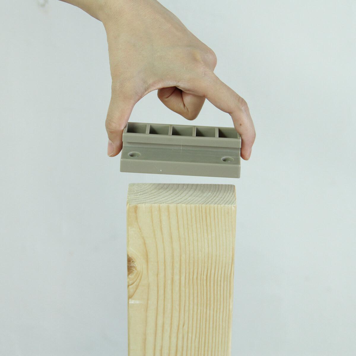 LABRICO(ラブリコ) 2×4材用ジョイント ナチュラルグレージュ(限定色) DXN-4 ツーバイフォー材 パーツ 1セット