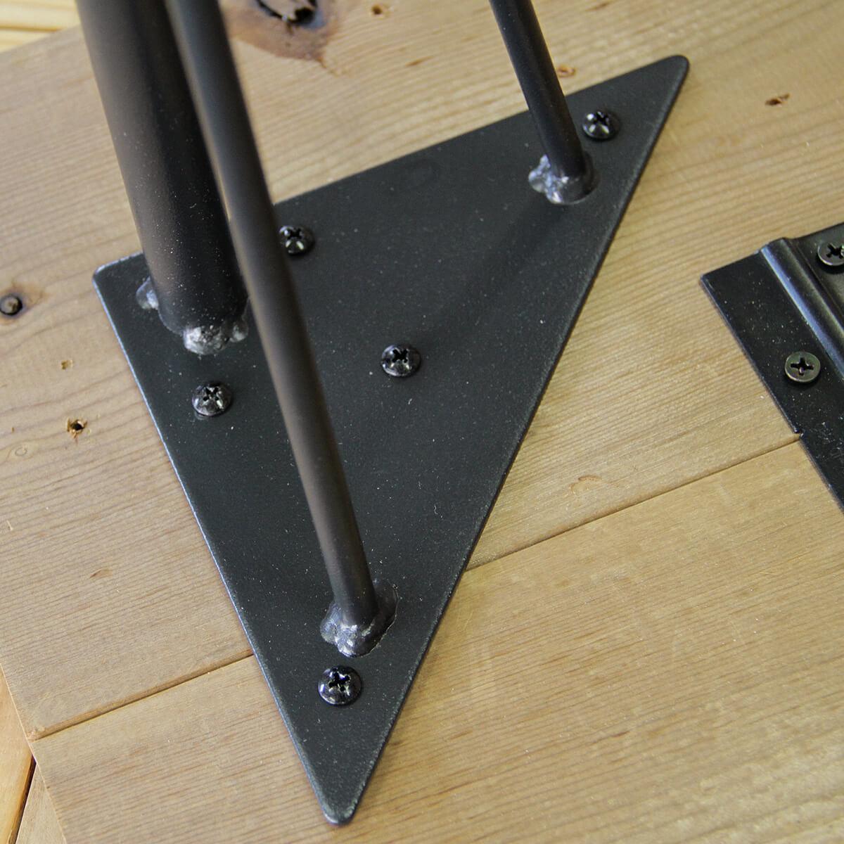 ラブリコ スチールテーブル脚 ブラック 150×150×690(mm) 1本入