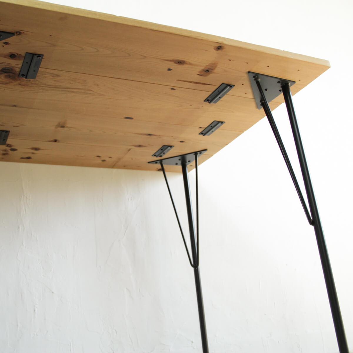 ラブリコ スチールテーブル脚 ホワイト 150×150×690(mm) 1本入