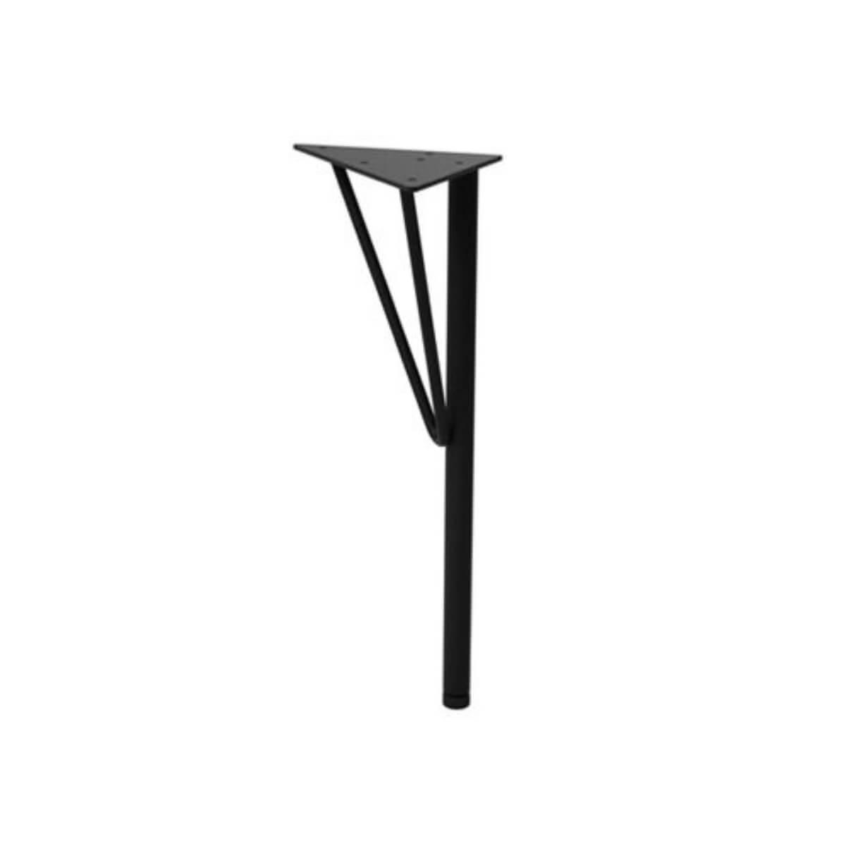 ラブリコ スチールテーブル脚S ブラック 150×150×375(mm) 1本入