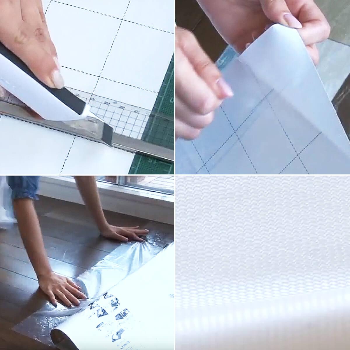 貼ってはがせる塩ビフロアシート アンティーク木目調 450×2400(mm)
