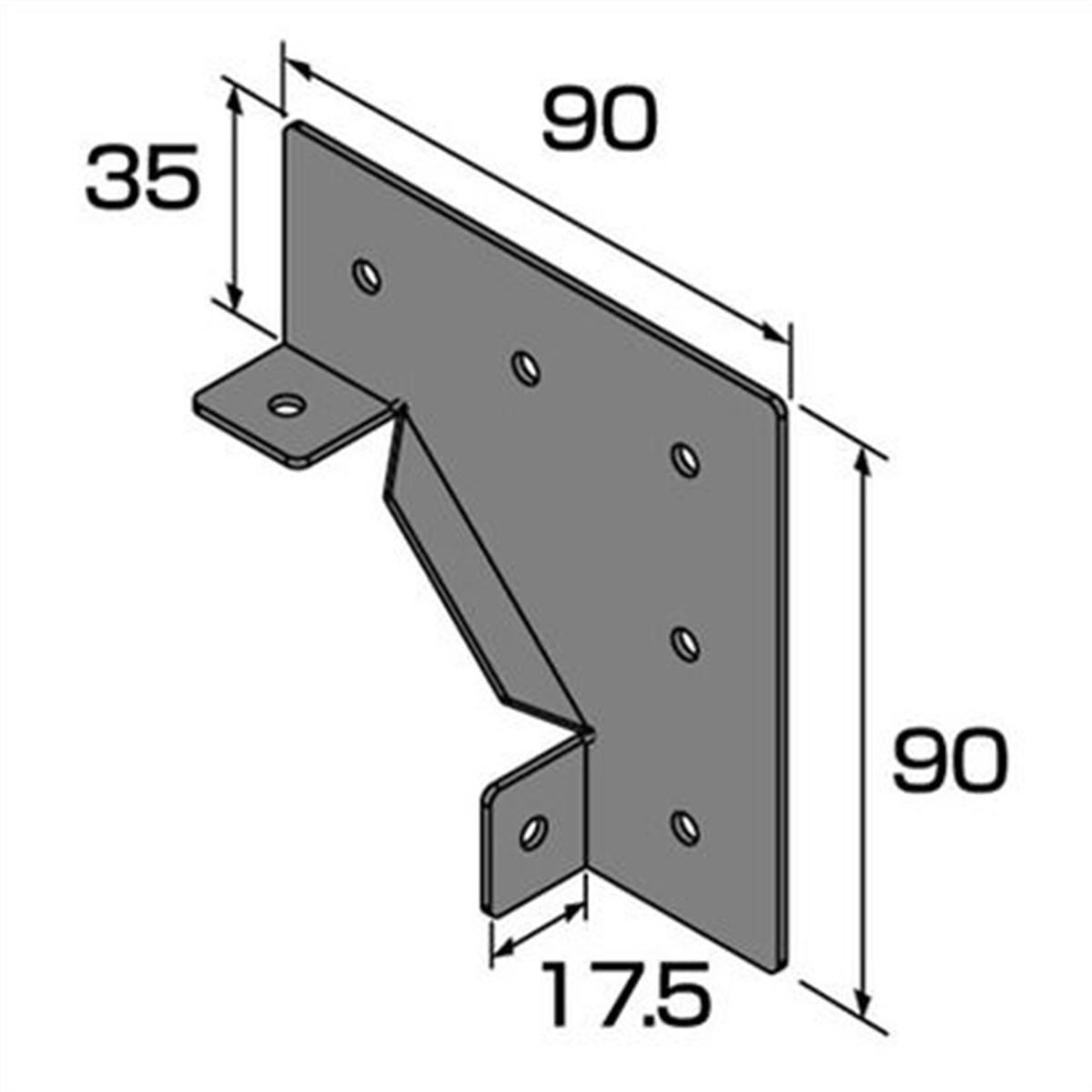 コーナー用金具 コーナーブラケット DIY-ID
