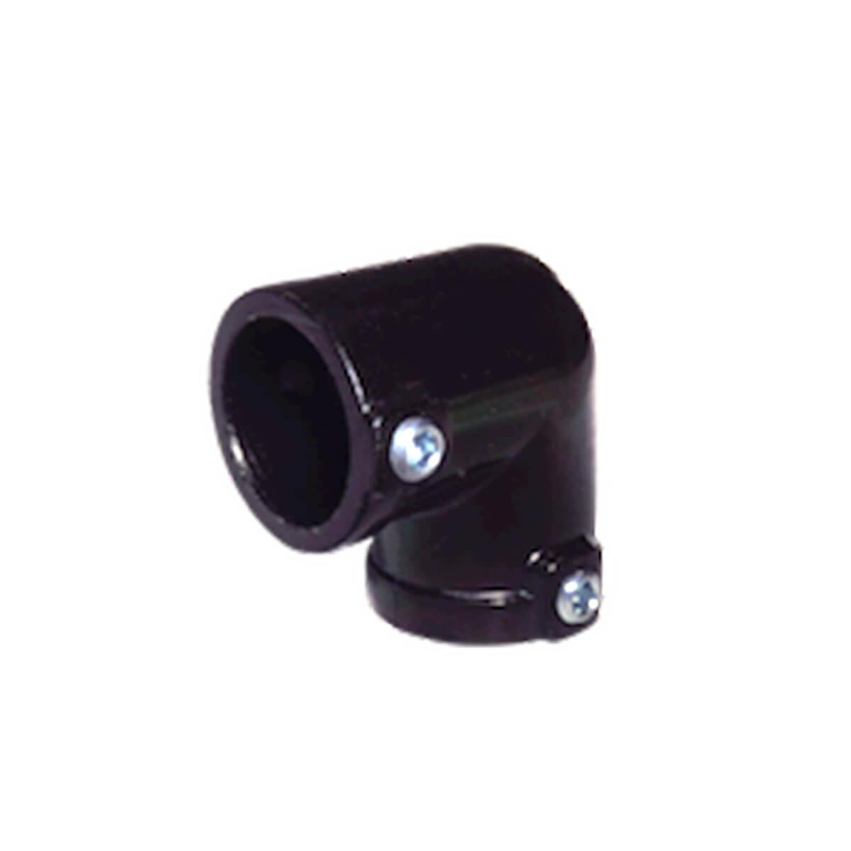 パイプクランパー L型 黒 Φ25.4 DIY-ID