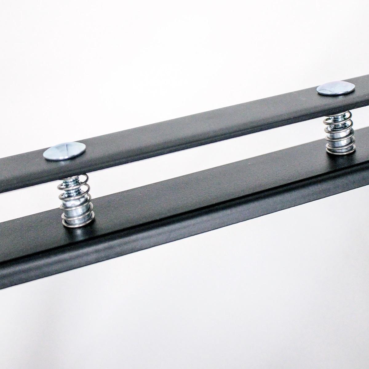 ラック用脚金具 基本セット250 ブラック 1個入 クランプスシェルフ DIY-ID