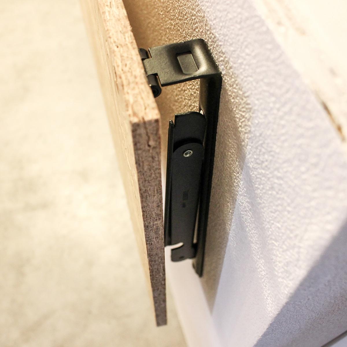 折りたたみ式アイアン棚受け S マットブラック 1組(2本入) TANNER Folding bracket