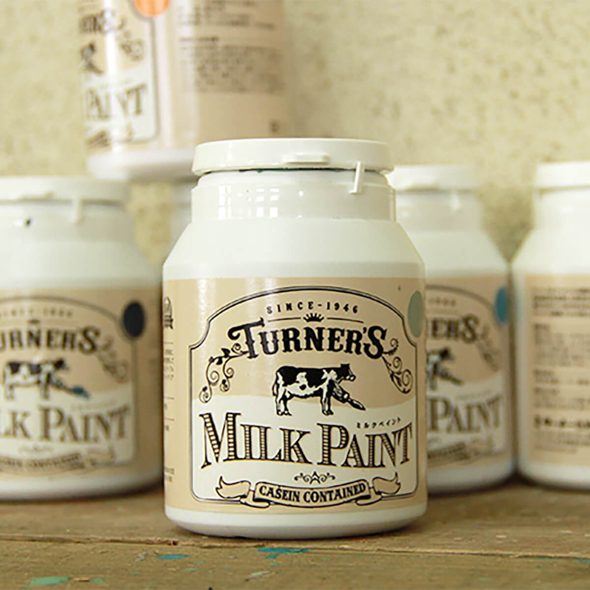 ミルクペイント インクブラック 水性屋内用塗料