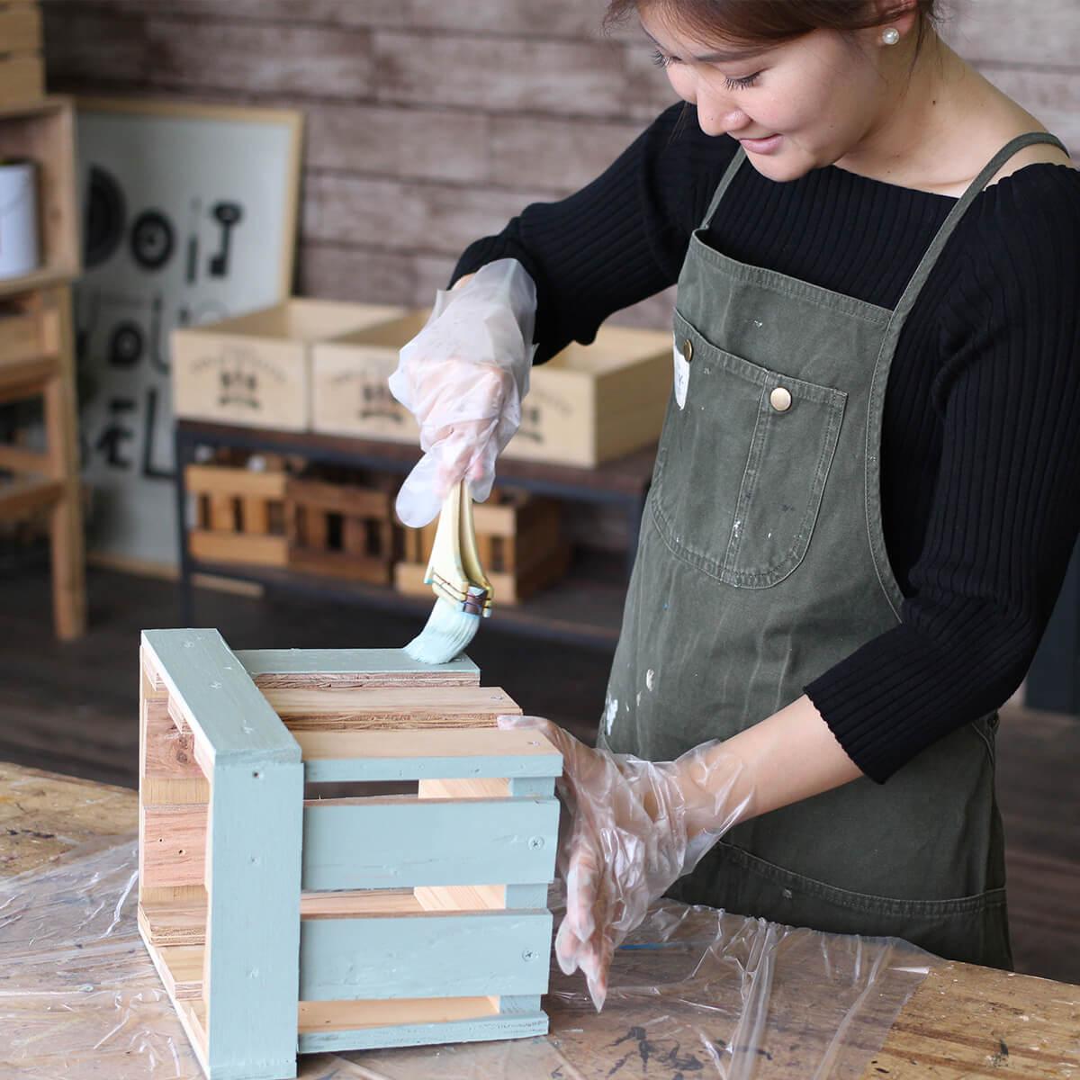 ミルクペイント アンティークコーラル 水性屋内用塗料