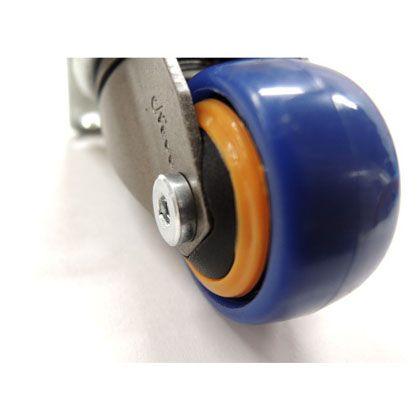 キャスター Neoo 直径25×H45(mm) ネイビー×オレンジ 4個入