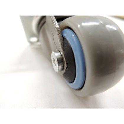 キャスター Neoo 直径25×H45(mm) グレー×サックスブルー 4個入