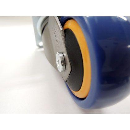 キャスター Neoo 直径50×H73(mm) ネイビー×オレンジ 4個入